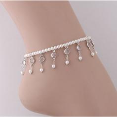Modisch Legierung Faux-Perlen mit Nachahmungen von Perlen Frauen (Sold in a single piece)