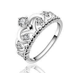 Шарм медь/Циркон/посеребренный женские кольца
