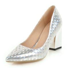 Frauen Kunstleder Stämmiger Absatz Absatzschuhe Geschlossene Zehe Schuhe