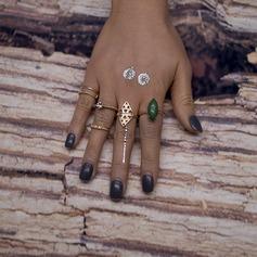 Mode Legering Resin Damer' Mode Ringar (Sats om 5)