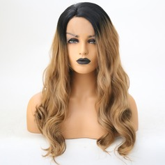Deep Wave Syntetisk Lace Front Parykar 350g (219179127)