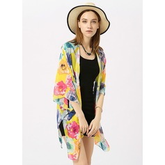 Blommig attraktiv/mode Beach Poncho