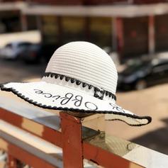 Ladies ' Gorgeous/Efterspurgte/Elegant Rattan Straw Diskette Hat