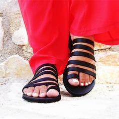 Женщины PU Плоский каблук Сандалии На плокой подошве Открытый мыс с Другие обувь
