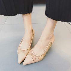 Kvinner PU Stiletto Hæl Pumps Lukket Tå sko