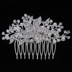 En forma de flor Aleación/Metal Peines y pasador (Se venden en una sola pieza)