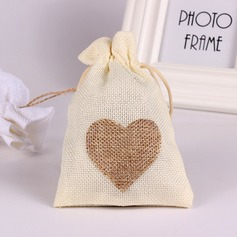 Lovely/Heart style Handbag shaped Linen Favor Bags (Set of 12)