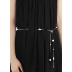 Moda Aleación Cinturón con La perla de faux