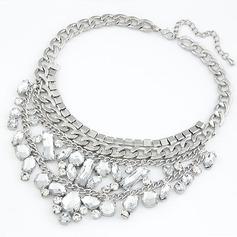 Lysande Legering med Oäkta Kristall Damer' Mode Halsband