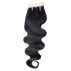 """4""""*4"""" 5A Virgin / remy Vague d'eau les cheveux humains Fermeture (Vendu en une seule pièce) 30g"""