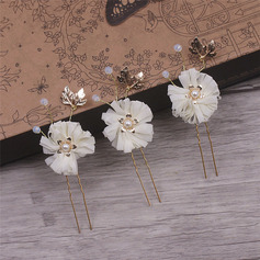 Unique Alloy/Ribbon Hairpins (Set of 6)