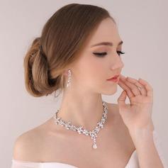 Bride Gaver - Vakkert Klassisk Stil Legering Rhinestones Smykkesett (255170439)