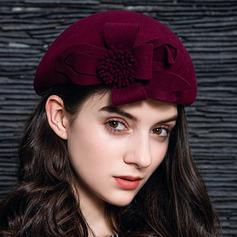 Dames Élégante Coton avec Une fleur Béret Chapeau