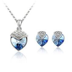 Bonito Liga com Cristal Mulheres Conjuntos de jóias