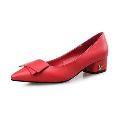 Women's Real Leather Low Heel Flats Closed Toe shoes