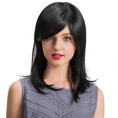 4A Bez remy Proste Ludzki włos Peruki bez okularów