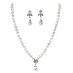 Elegant Alloy/Pearl Jewelry Sets
