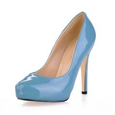 Donna Pelle verniciata Tacco a spillo Stiletto Piattaforma Punta chiusa scarpe