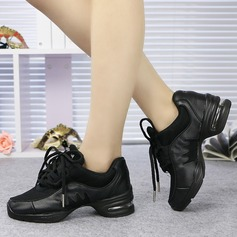 Femmes Vrai cuir Tennis Baskets avec Dentelle Chaussures de danse