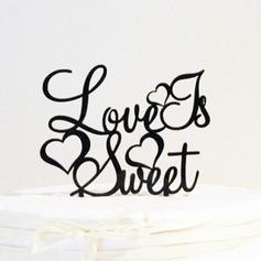 Carta o amor é doce Acrílico Casamento Decorações de bolos/Chá de panela Decorações de bolos