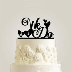 Personalizado lo hacemos Acrílico Decoración de tortas