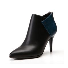Konstläder Stilettklack Pumps Boots med Split gemensamma skor