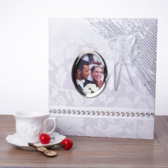 Bride And Groom Hardboard Photo Album With Sequins