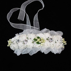 Lovely Tulle/Paper Flower Girl's Headwear