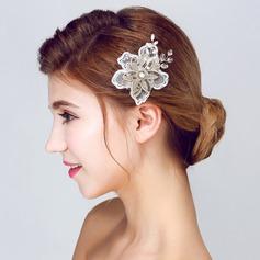 Elegante Cristal/Renda/Lantejoulas Flores & penas
