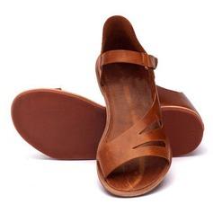 Femmes Similicuir Talon plat Sandales chaussures