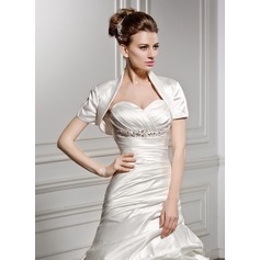 Short Sleeve Satin Wedding Wrap (013059169)