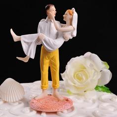 Figurin Klassiska par Harts Bröllop Tårtdekoration
