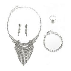 Vintage Liga/Strass Senhoras Conjuntos de jóias