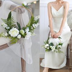Pur Rond Fleur en soie/Linge de soie Bouquets de mariée/Décorations -