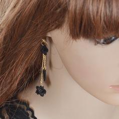 Pretty Alloy/Lace Ladies' Earrings
