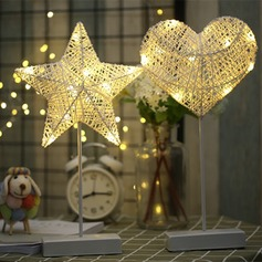 En forma de corazón/Diseño de la estrella Precioso rota Luces LED (Sold in a single piece)