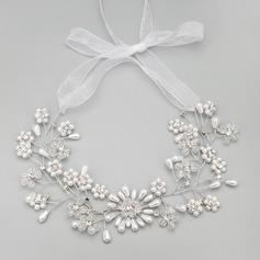 Сияющий сплав с горный хрусталь/хрусталь/искусственный жемчуг женские ожерелья