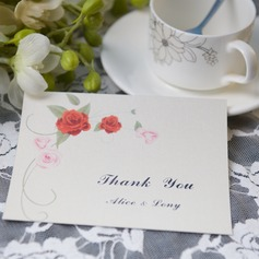 Personlig Blommig Stil Tackkort