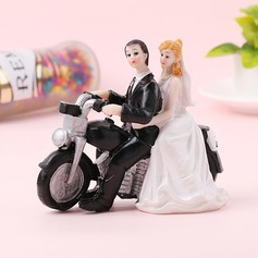 Klassiska par/Brud och brudgummen Resin Tårtdekoration (Säljs i ett enda stycke)