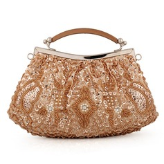 Cute Satin/Crystal/ Rhinestone Clutches/Bridal Purse