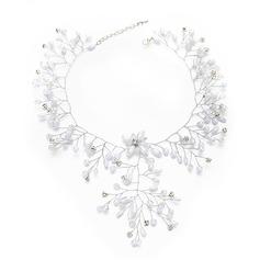 Damer Vakkert Crystal/Imitert Perle Pannen Smykker med Venetianske Perle/Crystal (Selges i ett stykke)
