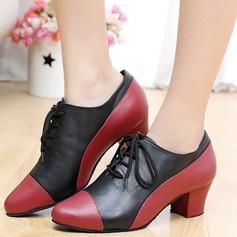 Vrouwen Echt leer Flats Dans Sneakers Swing Dansschoenen