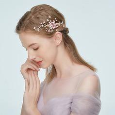 Dame Elegant Legering Hårnåle med Rhinsten/Venetiansk Perle (Sælges i et enkelt stykke)