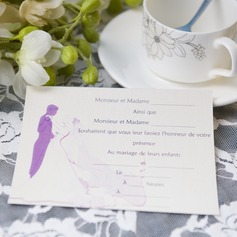 Bride & Groom Style Flat Card Invitation Cards (Set of 50)