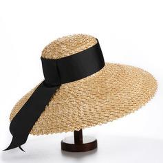 Señoras' Simple/Caliente poliéster/Paja salada Sombrero de paja/Sombreros Playa / Sol/Derby Kentucky Sombreros