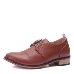 Men's Microfiber Leather Cap Toes Lace-up Dress Shoes Men's Oxfords