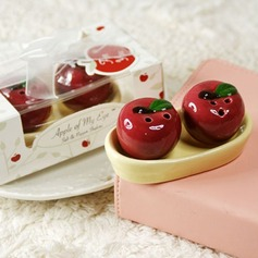 """Apple Of My Eye"" Ceramic With Ribbons (Set of 2)"
