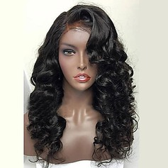 3A Ej remy Vågig Mänskligt hår Full Lace Parykar