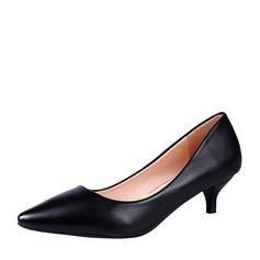 Frauen PU Stöckel Absatz Geschlossene Zehe Schuhe
