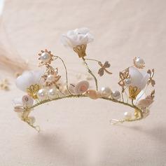 Beautiful/Fashion Alloy/Imitation Pearls Tiaras